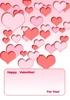 バレンタインメッセージカード1
