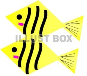 無料イラスト 黄色いお魚