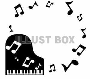 ピアノ・音符のイ…