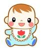 可愛い笑顔の赤ちゃんイラスト