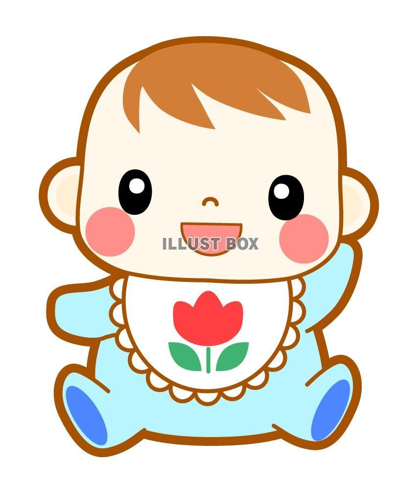 無料イラスト 可愛い笑顔の赤ちゃんイラスト