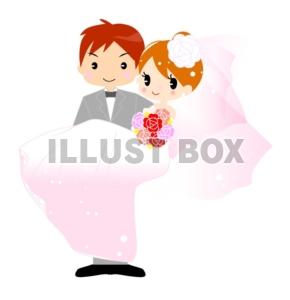 無料イラスト 結婚式・新郎新婦お姫様だっこイラストカット