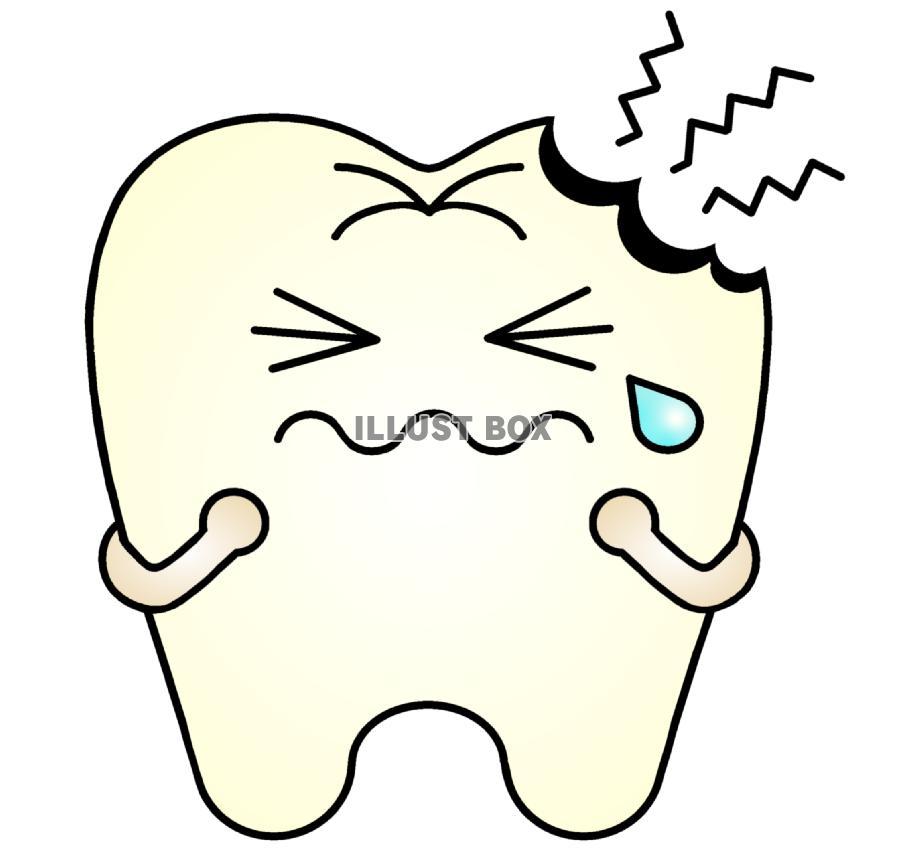 無料イラスト 虫歯