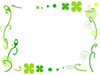 グリーンのフレーム クローバー