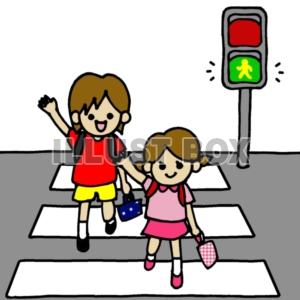 カード カード 枠 素材 : 無料イラスト 横断歩道 青信号