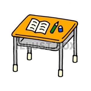 無料イラスト 学校 机