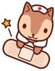 リスの看護師さん<絆創膏ぺたん>
