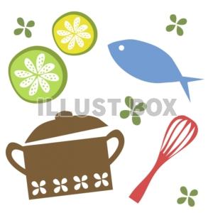 お料理イラスト : イラスト無料 : 魚イラストぬりえ : イラスト