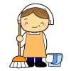 掃除のおばちゃんイラスト