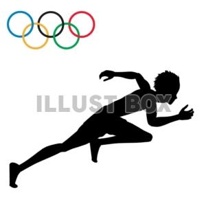 無料イラスト 商業利用不可オリンピック 陸上競技 短距離走