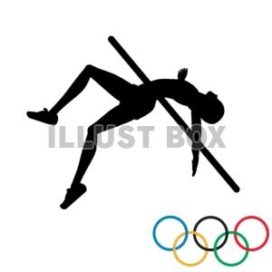 無料イラスト 商業利用不可オリンピック 陸上競技 高飛び