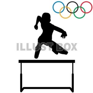 無料イラスト 商業利用不可オリンピック 陸上競技 ハードル