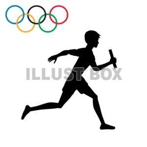 無料イラスト 商業利用不可オリンピック リレー 陸上競技