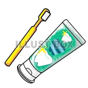無料イラスト 歯ブラシと歯磨き粉歯医者