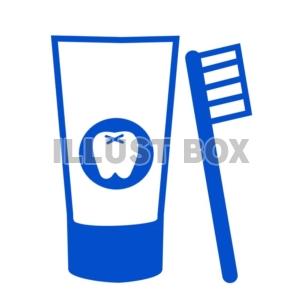 無料イラスト 歯ブラシと歯磨き粉のアイコン