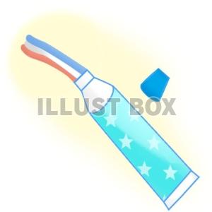 無料イラスト 三色の歯磨き粉