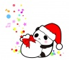クリスマス・サンタクロースパンダのプレゼント