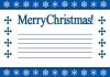 クリスマスカード(雪)