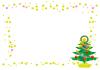 クリマスフレーム(クリスマスツリーと星)