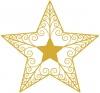 ベクター素材【ワンポイントイラスト】 クリスマスツリーの星02