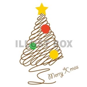 無料イラスト 手書き風クリスマスツリー