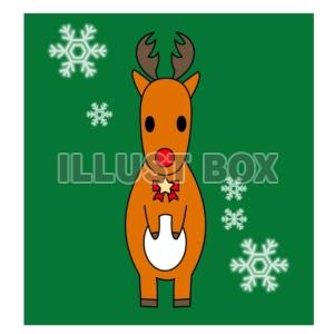 無料イラスト クリスマス 赤鼻のトナカイ