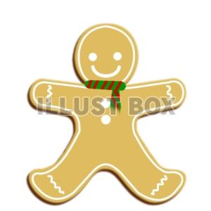 ジンジャークッキー(人型&マフラー) : イラスト無料