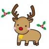 クリスマス トナカイのイラスト2