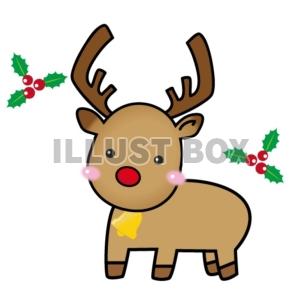 無料イラスト クリスマス トナカイのイラスト2