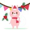 クリスマス(うさぎのサンタ)
