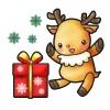 プレゼントだ!トナカイ喜ぶ●クリスマス●