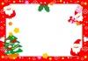 【クリスマス】小さなサンタクロース達のフレーム・飾り枠