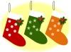 クリスマス・三色の靴下