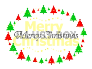 メリークリスマス (ロゴ&ツリー)