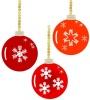 クリスマス・赤の玉結晶模様のオーナメント