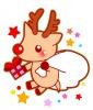 クリスマス・真っ赤なお鼻のトナカイさんのイラスト