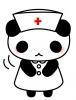 おじぎをする看護師パンダちゃん(イラストリクエスト)