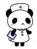 案内をする看護師パンダちゃん(イラストリクエスト)