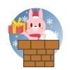 クリスマス(うさぎと煙突)