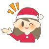 クリスマス(案内する女の子)