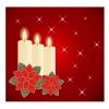 クリスマス キャンドルとポインセチア