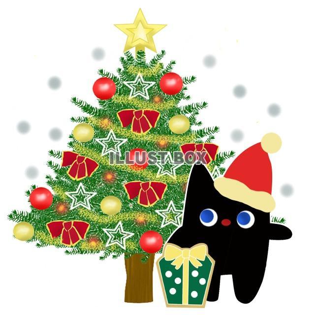 無料イラスト 猫とクリスマス