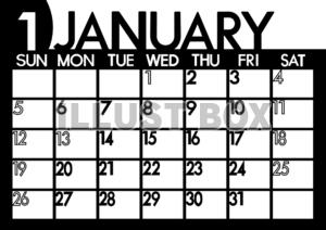 サンプル画像は線がギザギザに ... : 一月のカレンダー : カレンダー