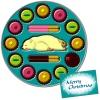 チョコレートギフト丸缶にクリスマスカードを添えて・たべたのだあれ?