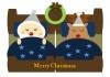 クリスマス・サンタとトナカイの就寝中