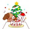犬と猫とクリスマスケーキ