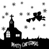 【シルエット】シルエットクリスマスシリーズ 03