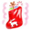 【手書き風】靴下とプレゼント