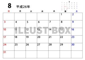 カレンダー 2014 カレンダー シンプル : サンプル画像は線がギザギザに ...