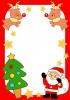 サンタとトナカイの楽しいクリスマス